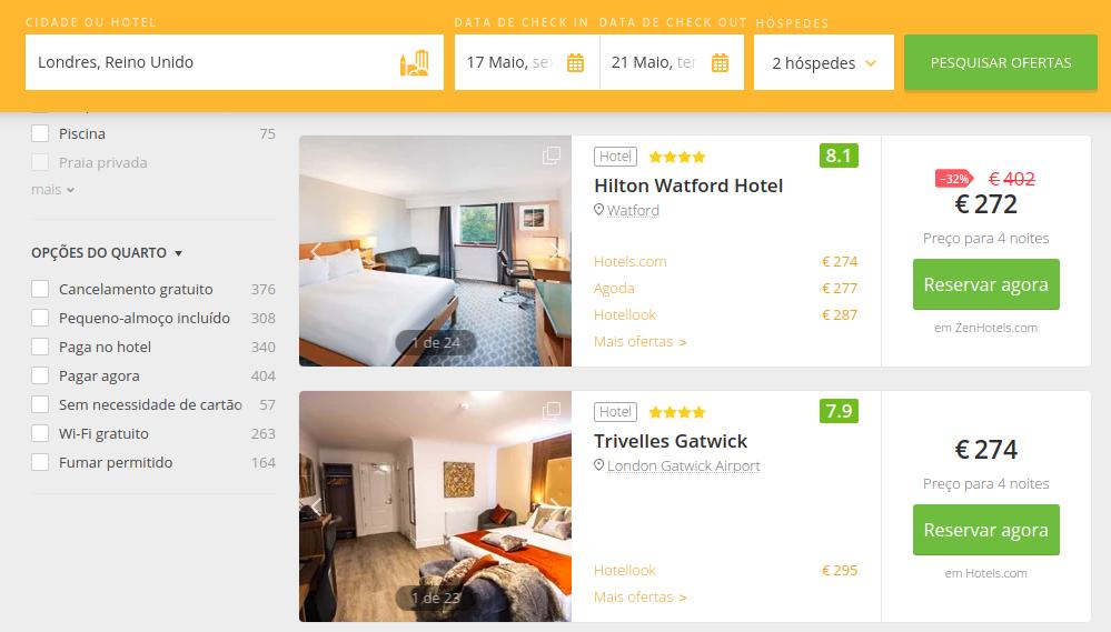 londres-hotéis